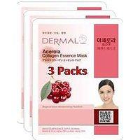 Acerola Collagen Essence Face Mask For Instant Glow ( Pack Of 3]
