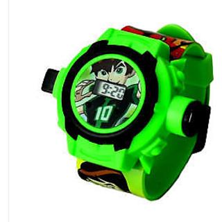 BEN 10 - 24 IMAGES PROJECTOR DIGITAL WRIST WATCH FOR KIDS