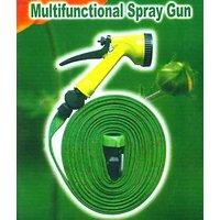 Garden Bike Car Wash Pipe Flat Hose Water Gun Spray For Car, Pet Bath
