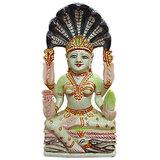 Vedka Jain Religious Statues - Jain Goddess Padmavati Serpentine Gemstone Idol Painting Art