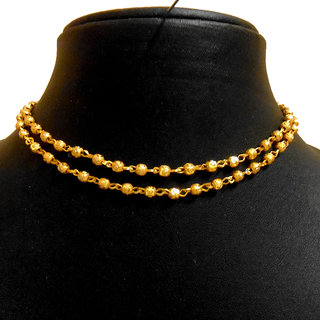 Buy 1 get 1 free long Gold plated ball Chain / Necklace