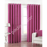 4 Ft PINK FAUX SILK CURTAINS EYELET DOOR WINDOW CURTAIN POLYESTER PLAIN RINGTOP PINDIA 48 Inch 48""