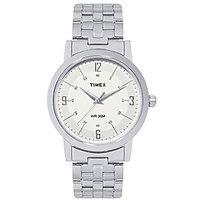 Timex Round Analog Silver Metal Watch for Men