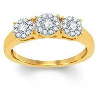 Pure Gold Jewellers 18kt Yellow Gold Illusion Ring With 31pcs Of 0.31cts Diamonds