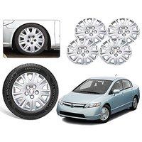 Premium Quality Car Full Wheel Covers Caps Silver Colour 15inches - Honda Civic - Set Of 4pcs