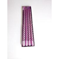 Zanky Purple Spiral Decorative Candle-Pack Of 4 (ZYCNL01)