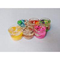 Zanky Coloured Chuja Gel Candle- Pack Of 6 (ZYCNL27)
