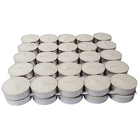 Zanky White Unscented T Light Candle- Pack Of 50 (ZYCNL30)