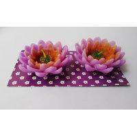 Zanky Purple Lotus Candle-Pack Of 2 (ZYCNL19)