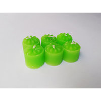 Zanky Green Scented Mini Piller Candle-Pack Of 6 (ZYCNL25)
