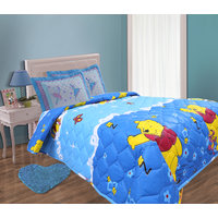 Hi Quality Luxury Ac Quilt Floral And Cartoon-Blue