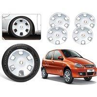 Premium Quality Car Full Wheel Covers Caps Silver Colour 13inches - Tata Indica - Set Of 4pcs