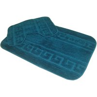 Microfiber Supersoft Bathmat Set Teal Color
