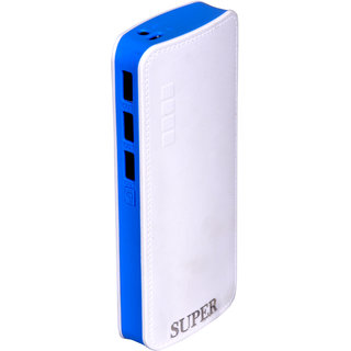 Super P3 fast charging 10000 mah power bank (white,blue)