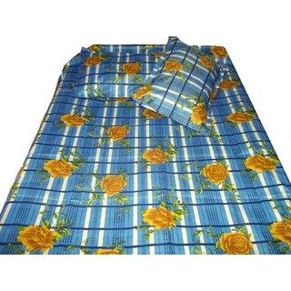 100% Cotton Floral Bed Sheet Multicolor