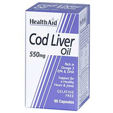 Health Aid Cod Liver Oil 550 Mg - 90 Capsules