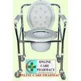 Karma Healthcare Rainbow-5 ( IMPORTED) Folding Commode With Wheels