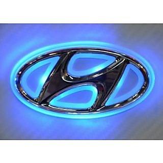 hyundai emblem logo car light roundel badge. Black Bedroom Furniture Sets. Home Design Ideas