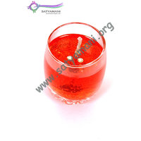 Satyamani Handmade Rose Aroma Gel Candle In Glass