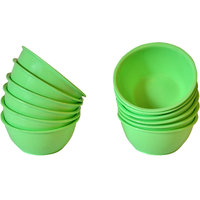 ASP Polyplast Microwave Safe Round Bowl 12 Pcs Set  (Green)