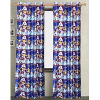 Doraemon Design Curtain For Kids Room - Pack Of 2