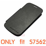 Samsung S DUOS 7562 Flip Cover Black And Screen Protector