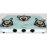 Designer White Marble Top 3 Burner Cooktop/Gas Stove