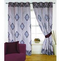 Fabutex Glitter Coffee Geometrical Panel Door Curtain