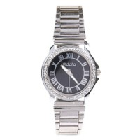 Fidato Round Dial Silver Metal Strap Womens Quartz Watch