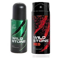 WILD STONE DEO PACK OF 2(FOREST SPICE+RED)