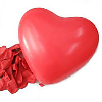 Red Colour Heart Shaped Latex Balloons - Pack Of 20