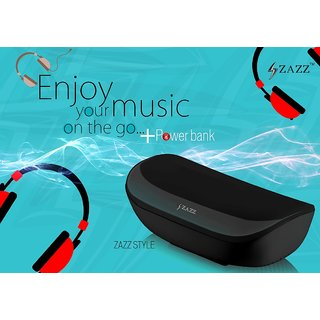 ZAZZ Bluetooth Speaker ZBS136-Black ' PowerBank'