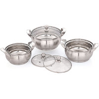Pigeon Delight Dish 6 Piece Set With Glass Lid And Matt Finish