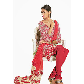Ethnicbasket Cotton Pink Colored Dress Materials (EB1010032916B)