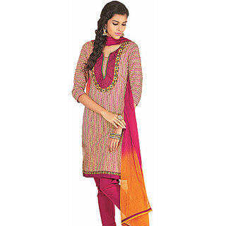 Ethnicbasket Cotton Pink Colored Dress Materials (EB1010032920A)