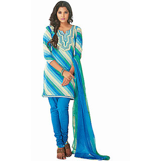 Ethnicbasket Cotton Blue Colored Dress Materials (EB1010032925A)