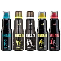 Engage Urge, Mate, Rush, Jump, Frost Deodorants 150ml Each (For Men)