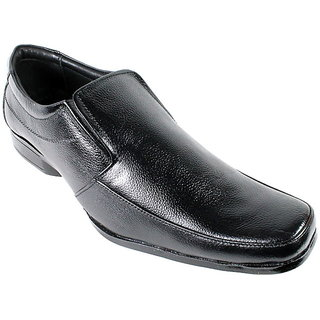 JerryMouse.in Mens Black Leather Formal Shoe - MFOR0059