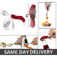 4 In 1 Travel Fork Knife Spoon Set With Bottle Opener_P2CT6