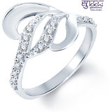 Sukkhi Gleaming Rodium Plated CZ Studded Ring (239R300)