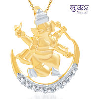 Sukkhi Incredible Gold and Rhodium Plated CZ God Pendant (103GP290)