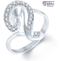 Sukkhi Alluring Rodium plated CZ Studded Ring (193R390)