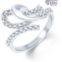 Sukkhi Pleasing Rodium plated CZ Studded Ring (199R460)
