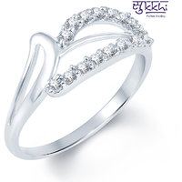 Sukkhi Lavish Rodium plated CZ Studded Ring (221R330)
