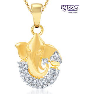 Sukkhi Stunning Gold and Rhodium Plated CZ God Pendant (114GP440)