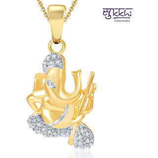 Sukkhi Pleasing Gold and Rhodium Plated CZ God Pendant (116GP550)