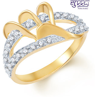 Sukkhi Ravishing Gold and Rhodium Plated CZ Ring (211R450)