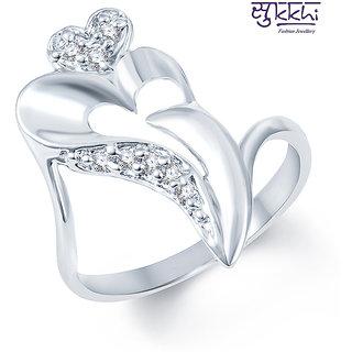 Sukkhi Estonish Rodium plated CZ Studded Ring (222R270)