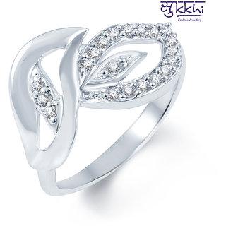 Sukkhi Indian Wedding Rodium plated CZ Studded Ring (227R380)