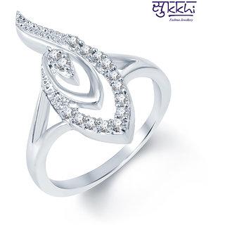 Sukkhi Marvelous Rodium plated CZ Studded Ring (230R390)